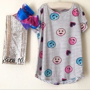 Smile Face Striped T-Shirt